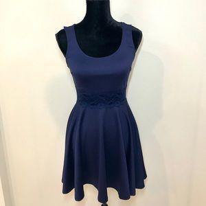 Navy Blue Lace Dress!